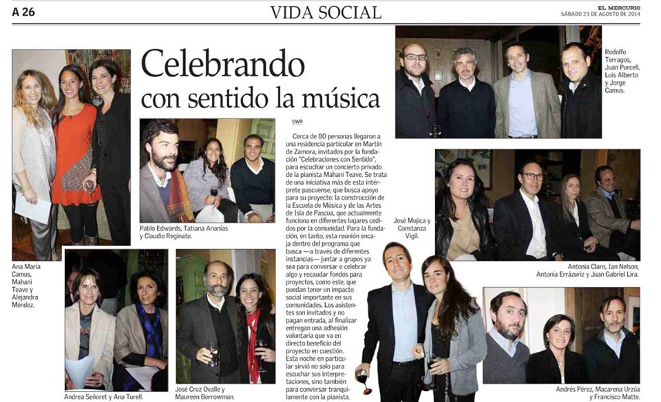 El Mercurio - Vida Social - 23 agosto 14